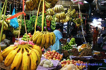 Trhy a tržnice Thajska